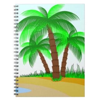 Cadernos Palmeiras e praia