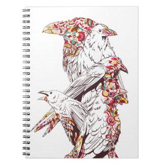 Cadernos papagaios bonitos e animais do vintage
