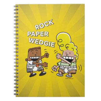 Cadernos Papel Wedgie da rocha do capitão Cuecas  