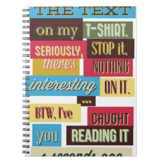Cadernos pare de ler os textos, design fresco legal
