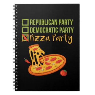 Cadernos Partido da pizza - votação engraçada da novidade