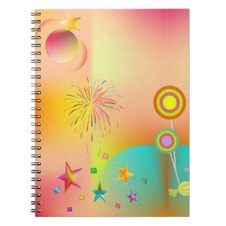 Cadernos partido e cores