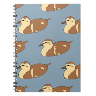 Cadernos Patos da natação