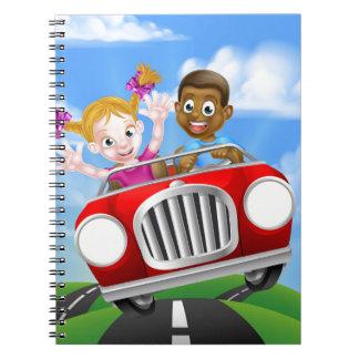 Cadernos Personagens de desenho animados que conduzem o