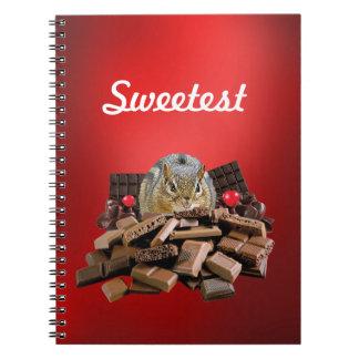 Cadernos Personalize o Chipmunk o mais doce do chocolate do