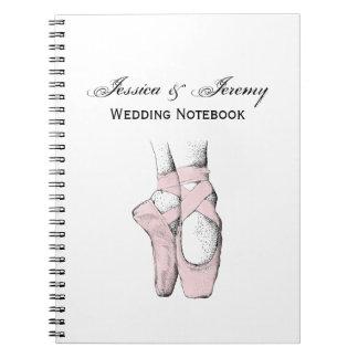 Cadernos Pés da bailarina no Lt Cor-de-rosa de Pointe #1