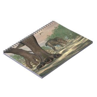 Cadernos Pés do dinossauro do rex do tiranossauro - 3D