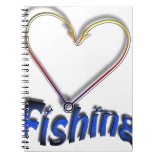 Cadernos pesca do amor