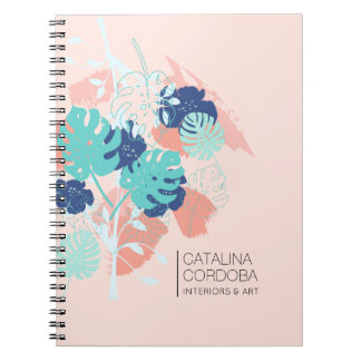 Cadernos Pêssego/hortelã tropicais modernos do teste padrão