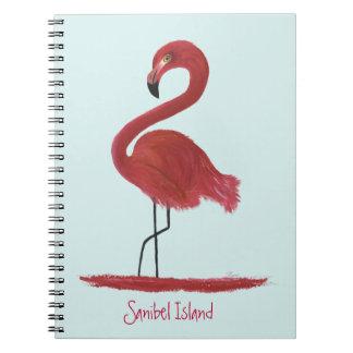 Cadernos Pintura cor-de-rosa das belas artes do flamingo -