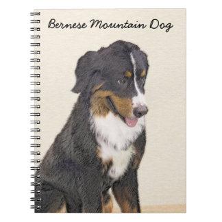 Cadernos Pintura do cão de montanha de Bernese - arte