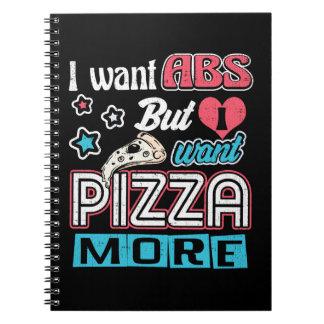 Cadernos Pizza contra o Abs - dieta de amontoamento -