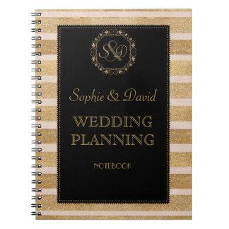 Cadernos Planejador cor-de-rosa romântico do casamento da