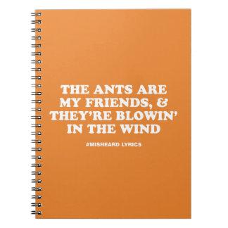 Cadernos Poemas líricos misheard tipográficos engraçados da