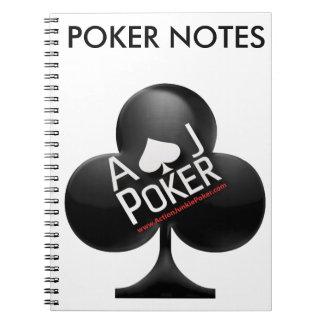 Cadernos Póquer do toxicómano da ação