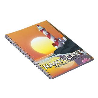 Cadernos Poster de viagens do farol de Nantucket