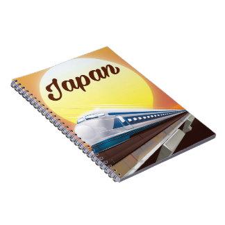 Cadernos Poster de viagens do trem de bala de Japão