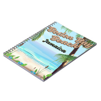 Cadernos Praia da baía de Boston, Jamaica