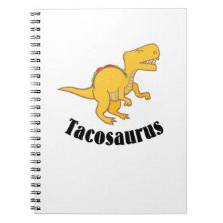 Cadernos Presente engraçado do Taco de T-Rex dos