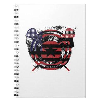Cadernos Presentes da bandeira americana da vara do