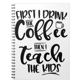 Cadernos Primeiramente eu bebo o café então que eu ensino