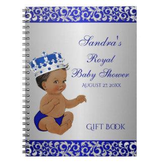 Cadernos Príncipe Azul Prata Presente Convidado do