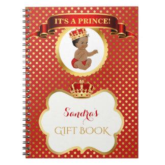 Cadernos Príncipe Real Vermelho Ouro Presente do