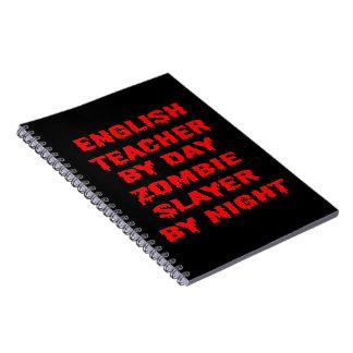 Cadernos Professor de inglês pelo assassino do zombi do dia