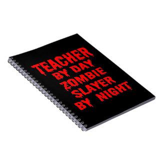Cadernos Professor pelo assassino do zombi do dia em a