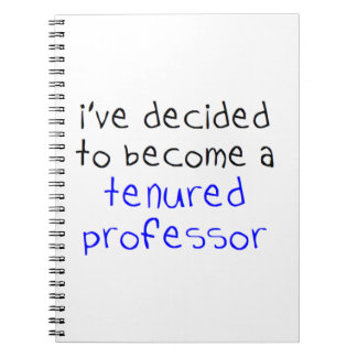 Cadernos professor tenured