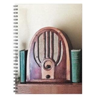 Cadernos Rádio dos anos 30 do vintage