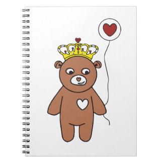 Cadernos rainha do urso de ursinho
