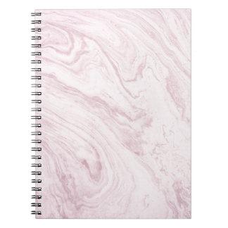 Cadernos Redemoinho de mármore COR-DE-ROSA feminino super