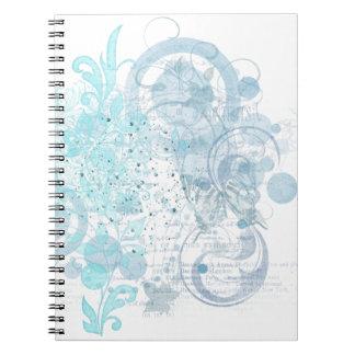 Cadernos Redemoinhos azuis