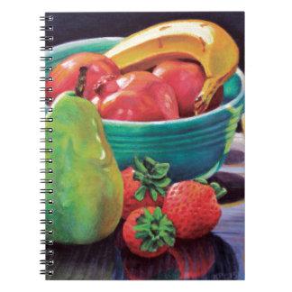 Cadernos Reflexão da pera da baga da banana da romã