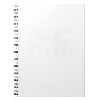 Cadernos Repetição engraçada da sesta de Turquia do futebol