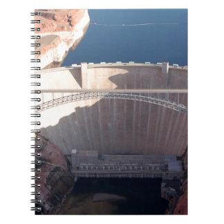 Cadernos Represa da garganta do vale e ponte, arizona