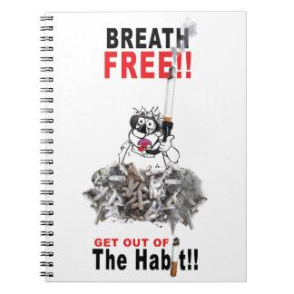 Cadernos Respire livre - PARE DE FUMAR