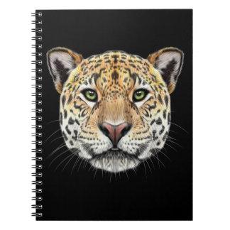 Cadernos Retrato ilustrado do Jaguar.