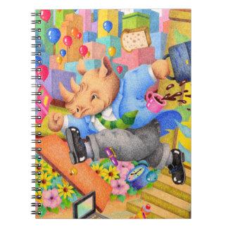 Cadernos Rinoceronte ocupado