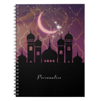 Cadernos Rosa roxo do Oriente Médio marroquino das noites