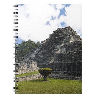 Cadernos Ruínas maias de Chacchoben do Maya da costela