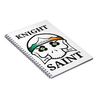 Cadernos Santo do cavaleiro do Dia de São Patrício de