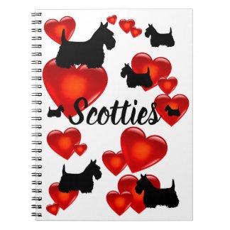 Cadernos Scottish coração preto/wheaten de Terrier da