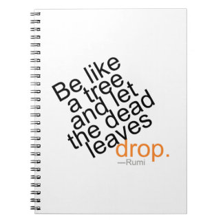 Cadernos Seja como uma árvore e deixe a gota inoperante das