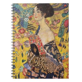 Cadernos Senhora de Klimt com belas artes do fã