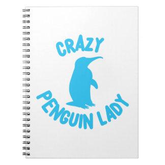 Cadernos senhora louca do pinguim