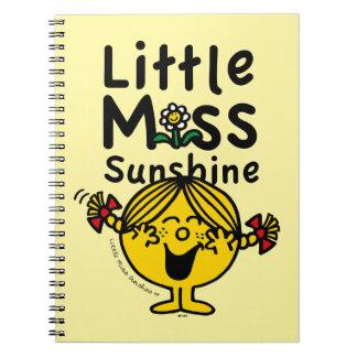 Cadernos Senhorita pequena pequena Luz do sol Riso da