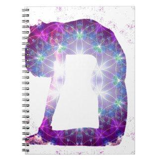 Cadernos Série da pose da deusa da ioga