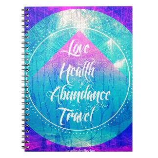 Cadernos Série de manifestação do viagem da abundância da